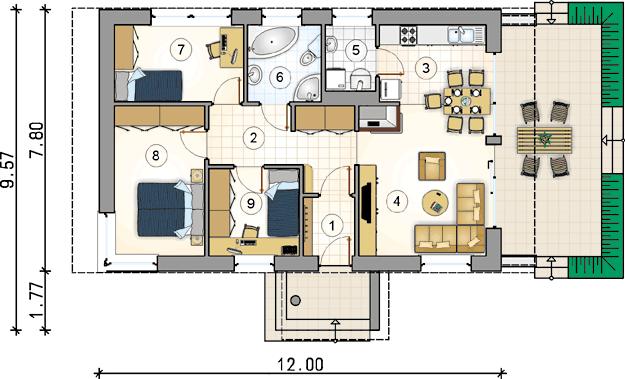 3 bedrooms 2 bathroom medium houses (1)