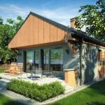 บ้านขนาดกลาง 3 ห้องนอน 2 ห้องน้ำ ออกแบบร่วมสมัย ผสมวัสดุจากไม้