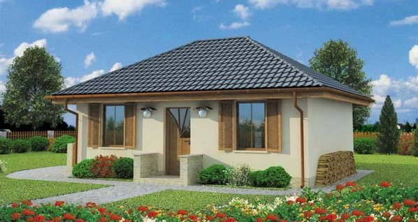 50 sqm small hip roof house (1)