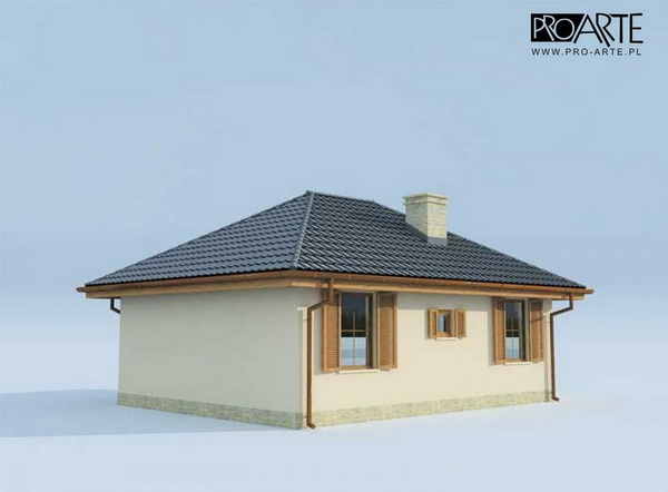 50 sqm small hip roof house (4)