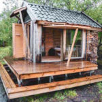 กระท่อมท้ายสวน จากวัสดุรีไซเคิล เหมาะกับการประยุกต์ทำเป็นรีสอร์ทขนาดเล็ก บ้านตากอากาศ บ้านสวน