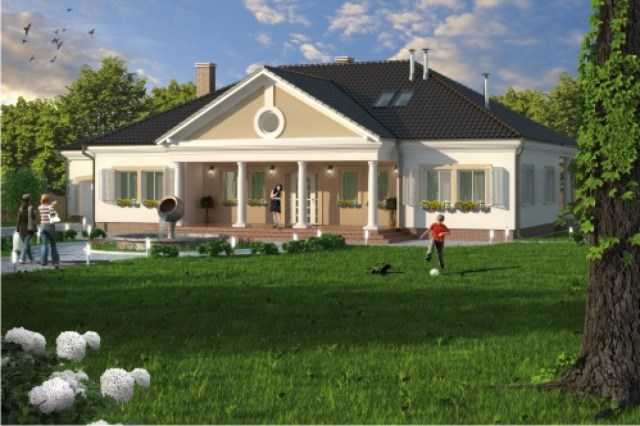 Classic contemporary home Modern size (1)
