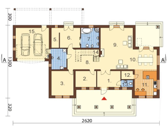 Classic contemporary home Modern size (6)