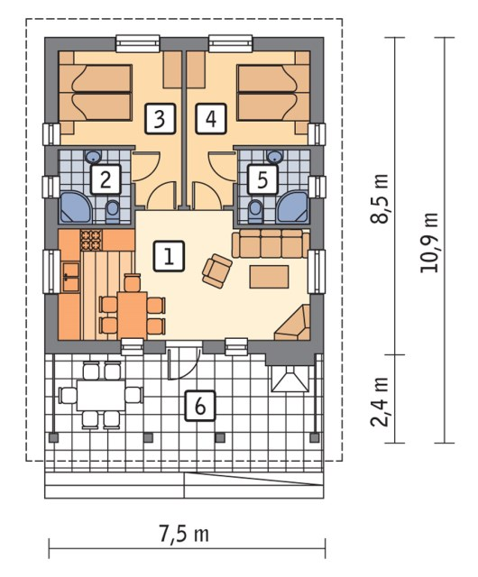 Compact house simple decor wood (1)
