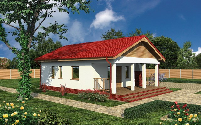 Compact house simple decor wood (2)
