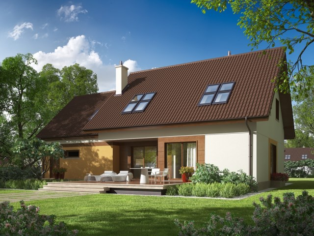 Contemporary house 3 bedroom gable roof (1)