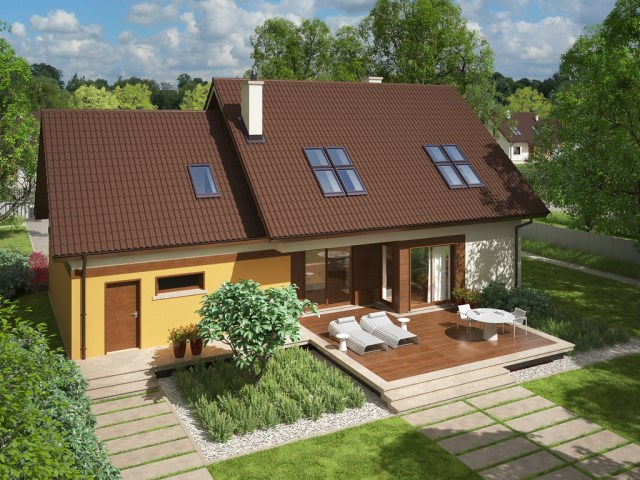 Contemporary house 3 bedroom gable roof (4)