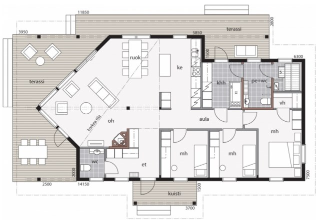 Cottage contemporary House 3 bedroom gabled (3)
