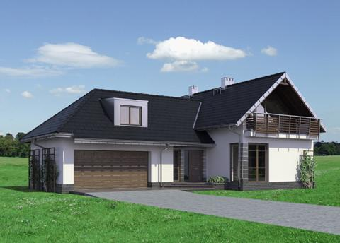 Half -storey house Contemporary Elegant shape (1)