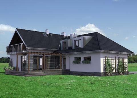 Half -storey house Contemporary Elegant shape (2)