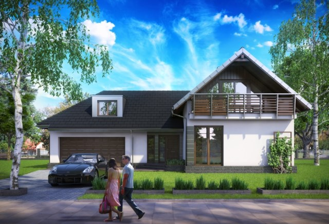 Half -storey house Contemporary Elegant shape (6)