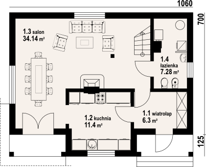 Medium 3 bedroom Victorian home (1)