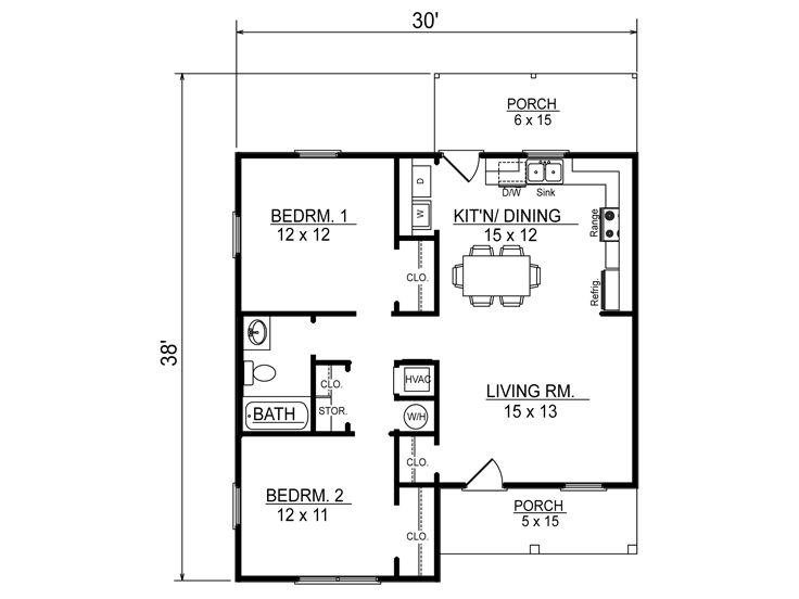 Medium houses 2 bedrooms  1 bathroom  (2)