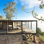 บ้านสวนตากอากาศ ออกแบบสไตล์โมเดิร์น เฉลียงรอบบ้าน เทควิวริมทะเล