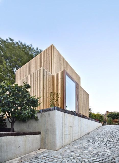 Modern house box Shape Wood and glass  (7)