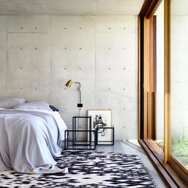 Modern house decor Wood and cement (7)