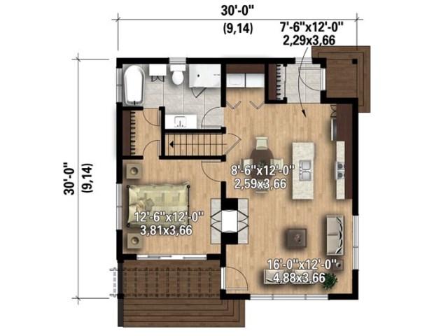Modern style house with dark smart (3)