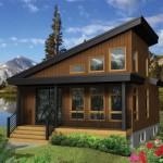 บ้านตากอากาศหลังคาเพิง สไตล์โมเดิร์นตกแต่งด้วยไม้ ขนาด 1 ห้องนอน งบ 6 แสนบาท