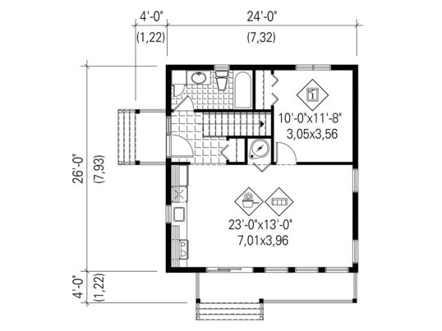 Modern style villa with 1 bedroom (2)