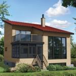 บ้านตากอากาศสไตล์โมเดิร์น ขนาด 2 ห้องนอน ตกแต่งด้วยไม้ ในงบ7 แสนบาท