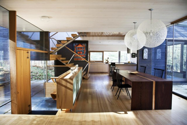 Modern two-story house mixed materials and natural materials (10)