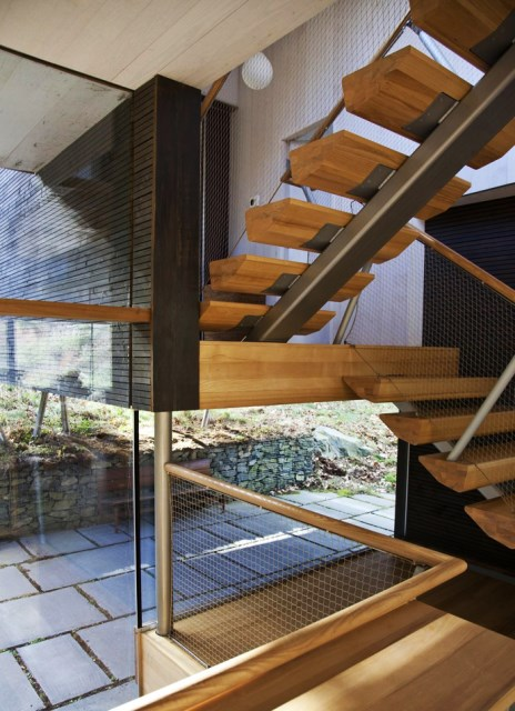 Modern two-story house mixed materials and natural materials (18)