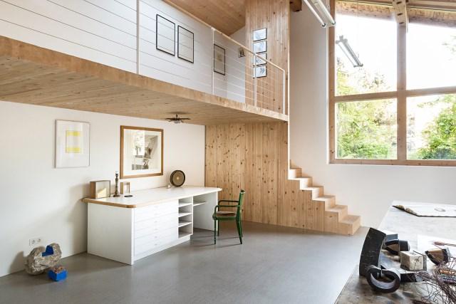 Renovate home with wood Interior warm minimalist art (2)