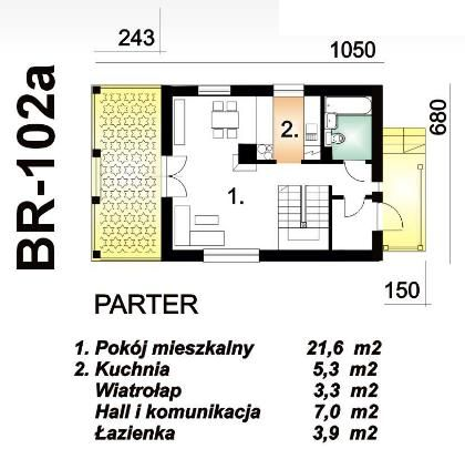 Small House 1 bedroom 1 bathroom (1)