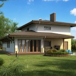 บ้านเดี่ยวสองชั้น ดีไซน์สไตล์ร่วมสมัย ตกแต่งด้วยงานไม้ สร้างกลิ่นอายแบบภูมิฐาน