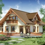แบบบ้านสไตล์คันทรี่ ดีไซน์สวยสะดุดตา ออกแบบขนาดใหญ่ เน้นบรรยากาศอบอุ่น