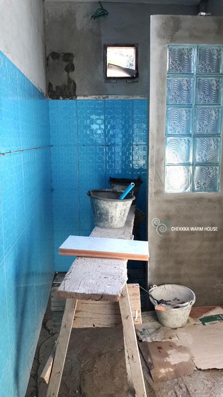 blue restroom renovation review (12)