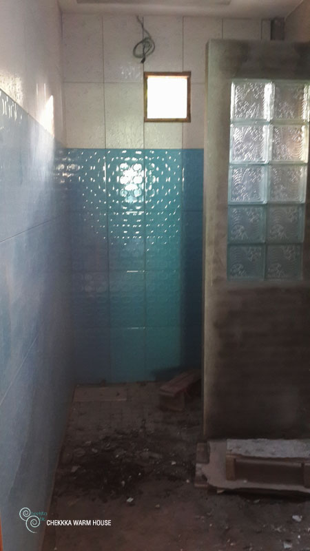 blue restroom renovation review (13)