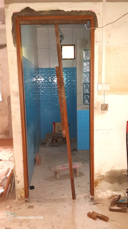 blue restroom renovation review (14)