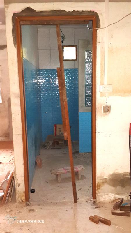 blue restroom renovation review (14)