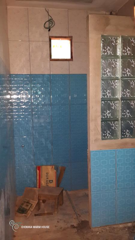 blue restroom renovation review (16)