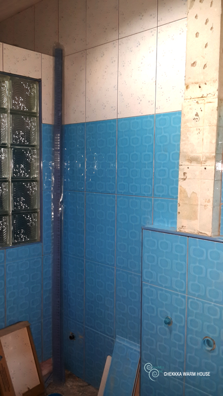 blue restroom renovation review (17)