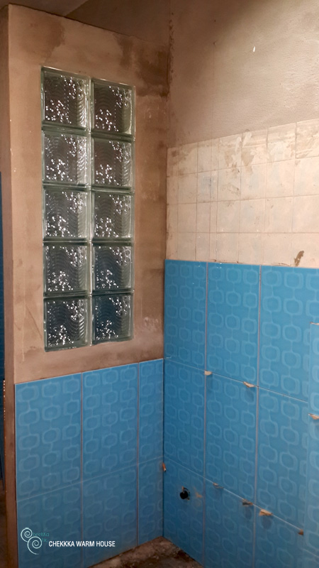 blue restroom renovation review (18)