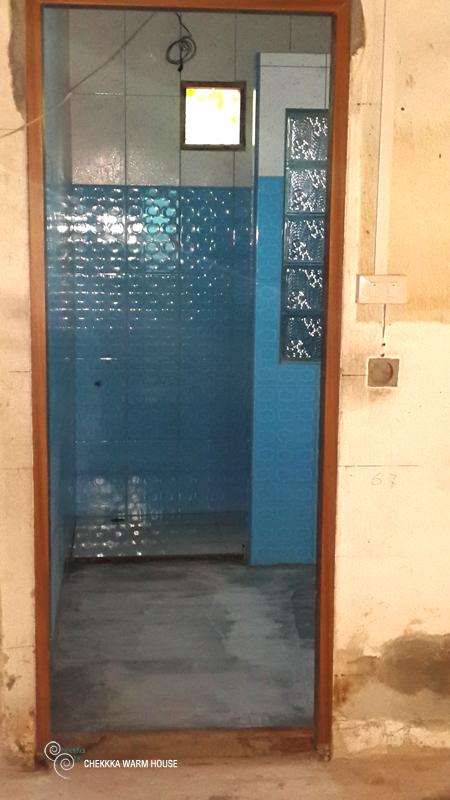 blue restroom renovation review (20)