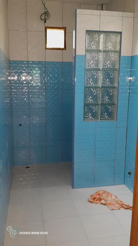blue restroom renovation review (21)