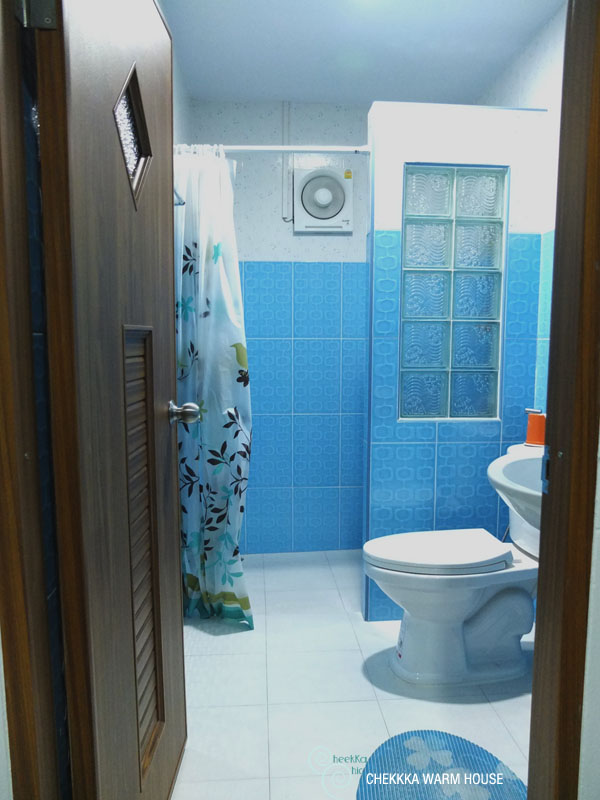 blue restroom renovation review (28)