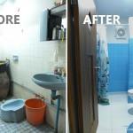 Review : รีโนเวทห้องน้ำเล็ก เปลี่ยนจากห้องน้ำเก่าสุดโทรม ให้ใหม่เอี่ยมน่าใช้งาน