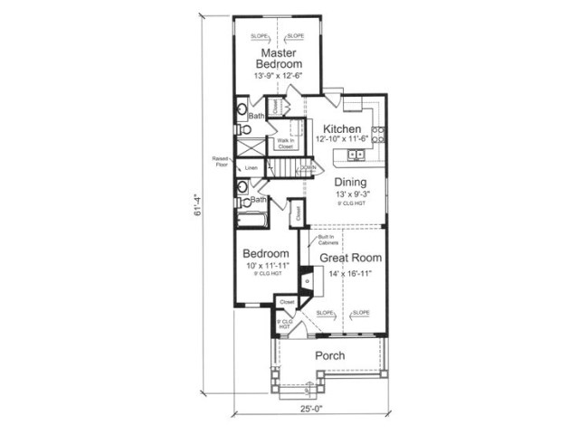 bungalow-style house wood furnishings (1)