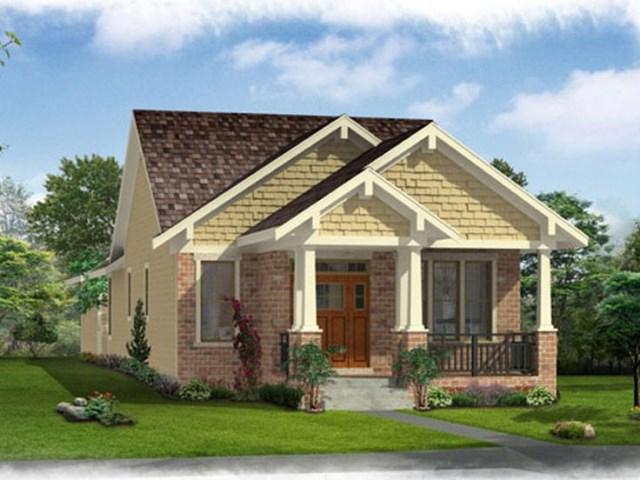 bungalow-style house wood furnishings (2)