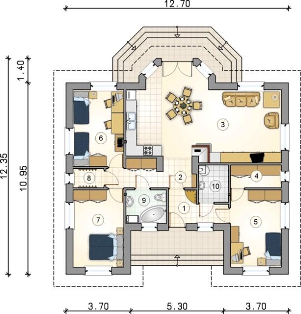 contemporary home 3 bedroom 2 bathroom (8)