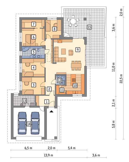 contemporary house 3 bedroom 2 bath (1)