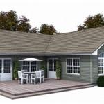 บ้านคอทเทจสีเทา ตกแต่งสวยงามด้วยไม้ มาพร้อมเฉลียงขนาดใหญ่