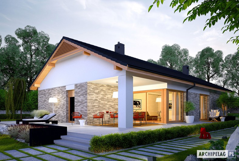 modern gable grey  house (2)