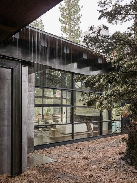 modern villa house Materials of cement steel glass (1)