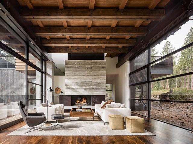 modern villa house Materials of cement steel glass (13)