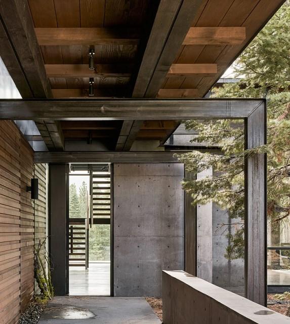 modern villa house Materials of cement steel glass (4)